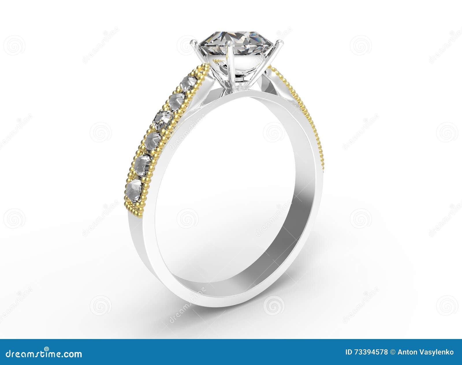 bague diamant 3d