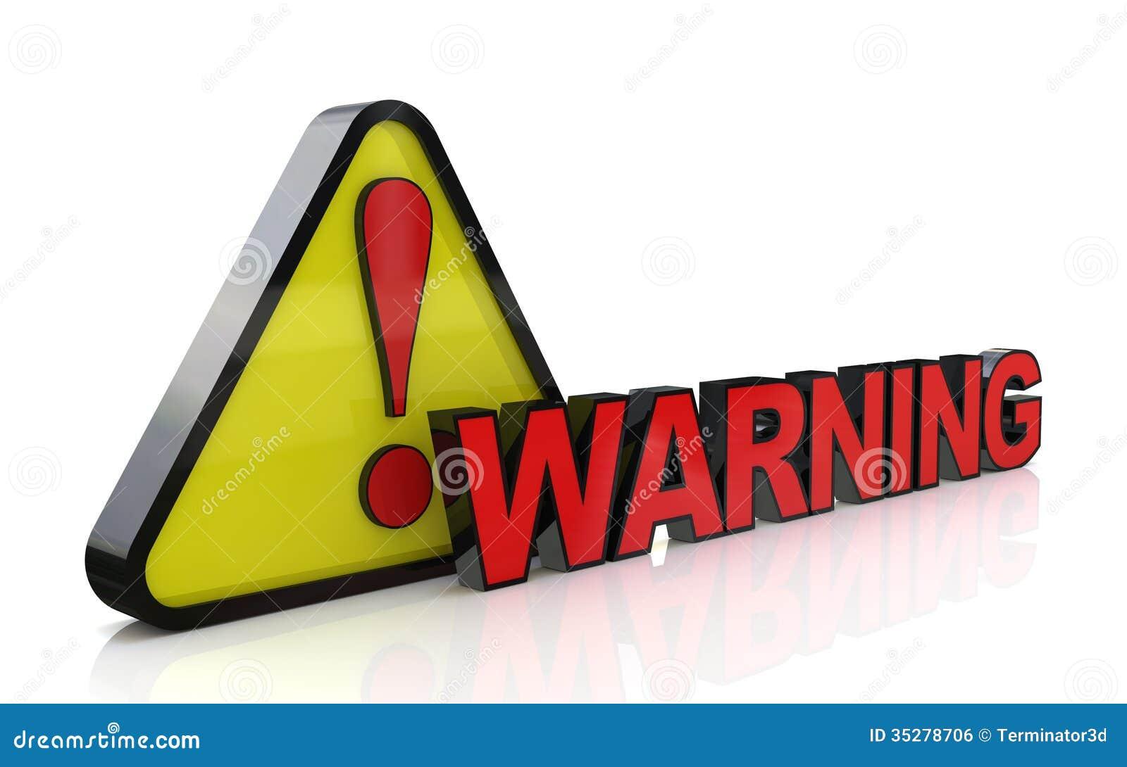 illustration 3d de panneau d 39 avertissement avec la marque d 39 exclamation image libre de droits. Black Bedroom Furniture Sets. Home Design Ideas