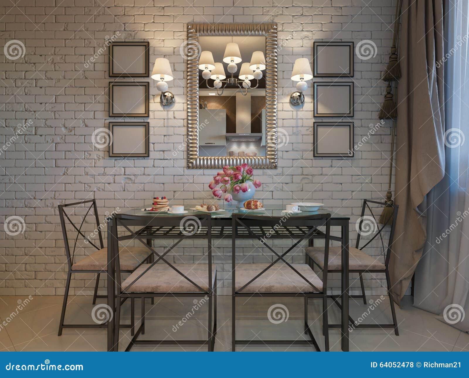 Illustration 3D Der Küche Mit Beige Fassaden Stock Abbildung ...