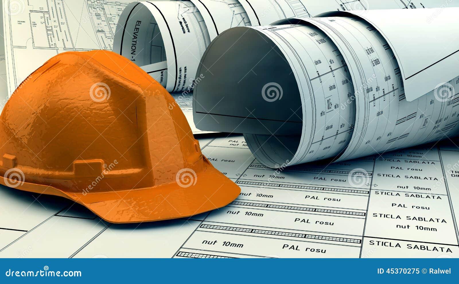 Illustration 3d des modèles, du modèle de maison et du matériel de construction
