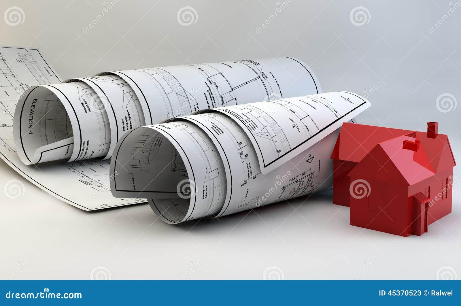 Illustration 3d des mod les du mod le de maison et du Materiel construction maison