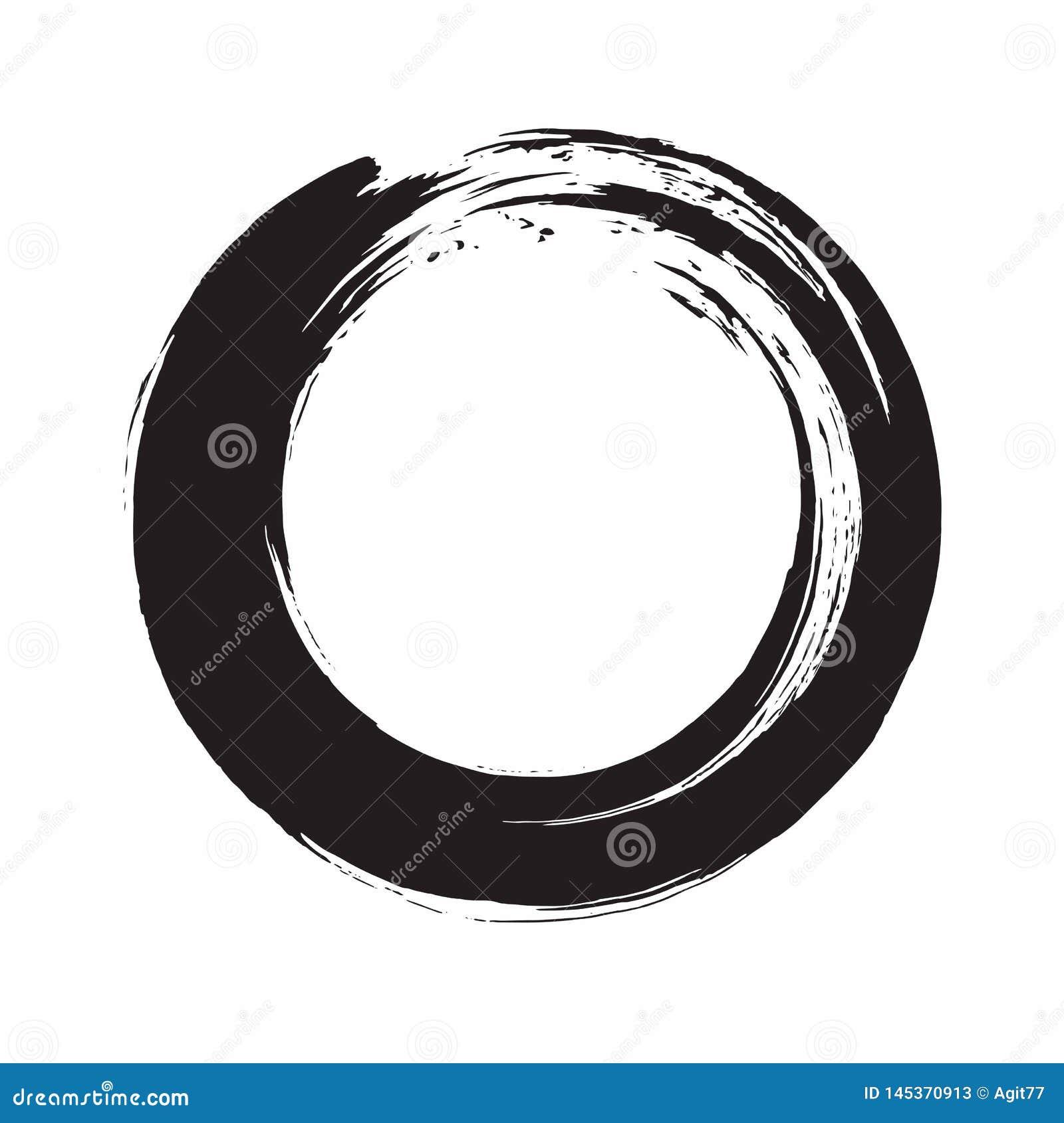 Illustration d Enso Zen Circle Ink Brush Vector