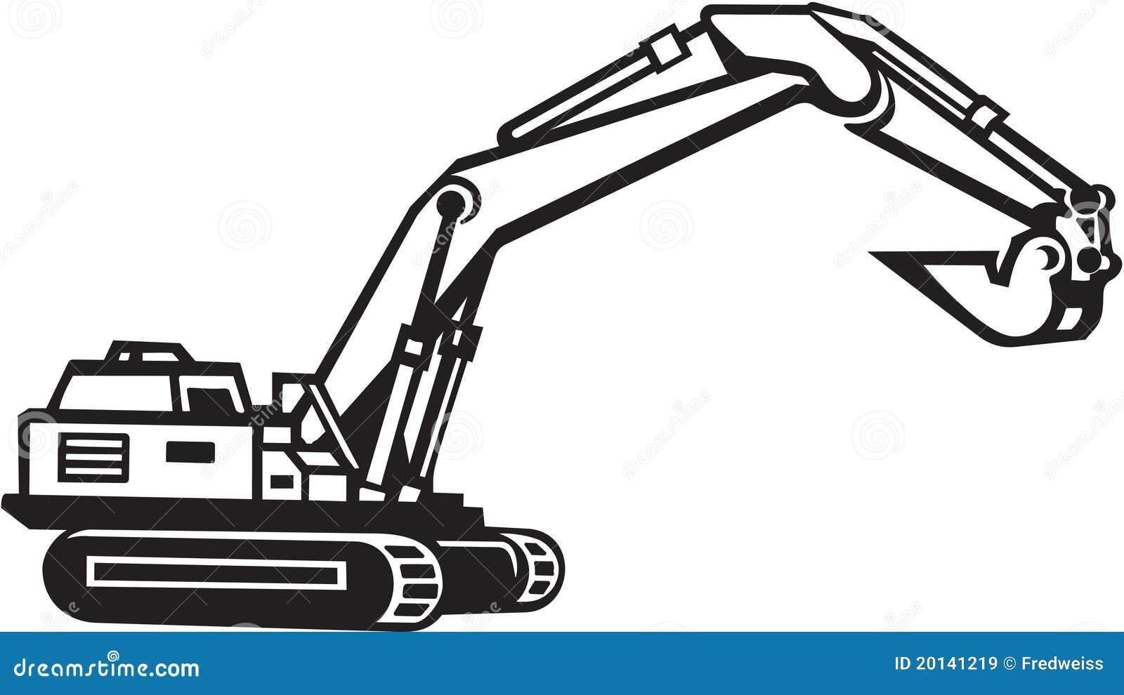 Illustration d'excavatrice illustration de vecteur ...