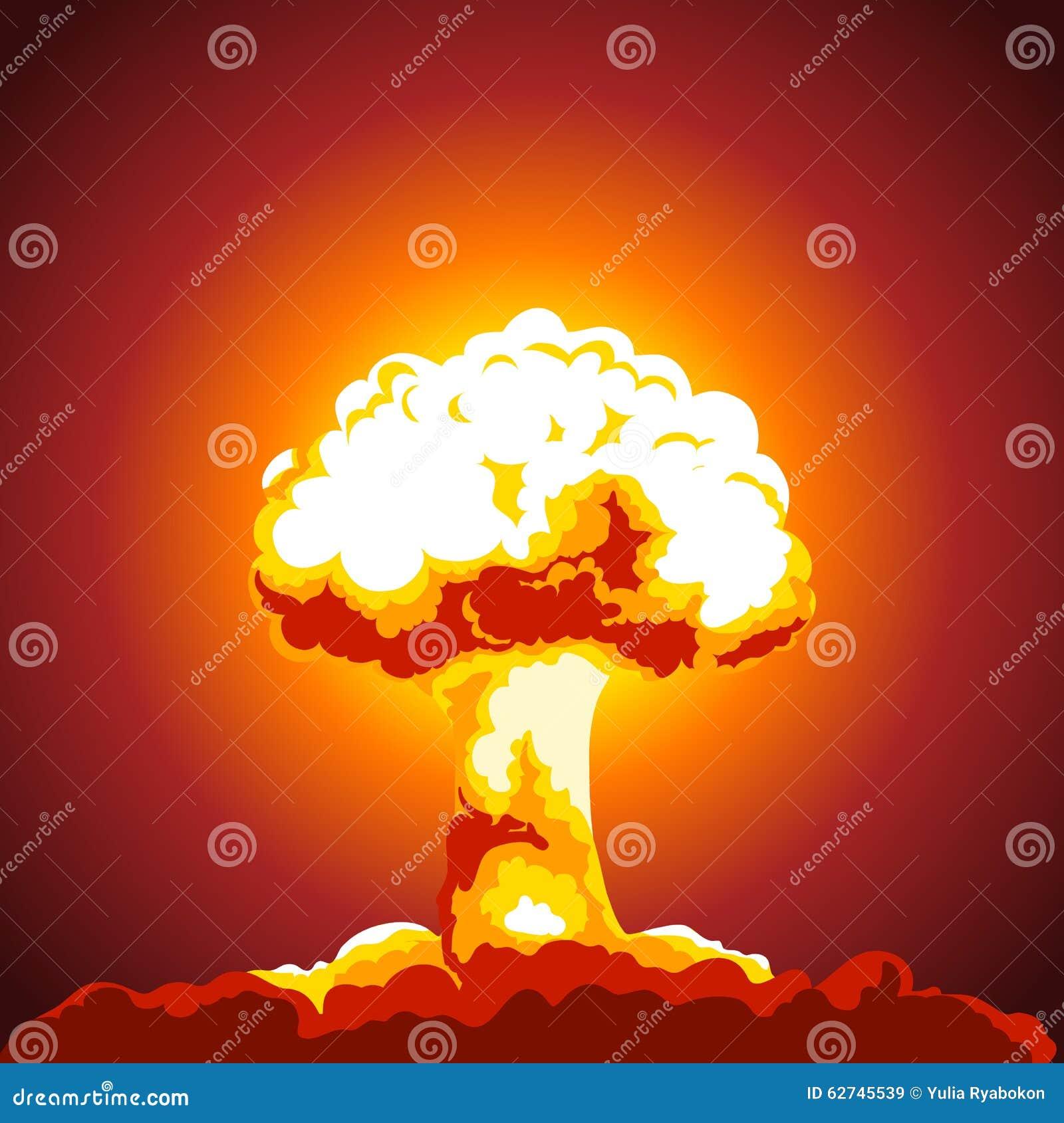 Illustration d explosion nucléaire