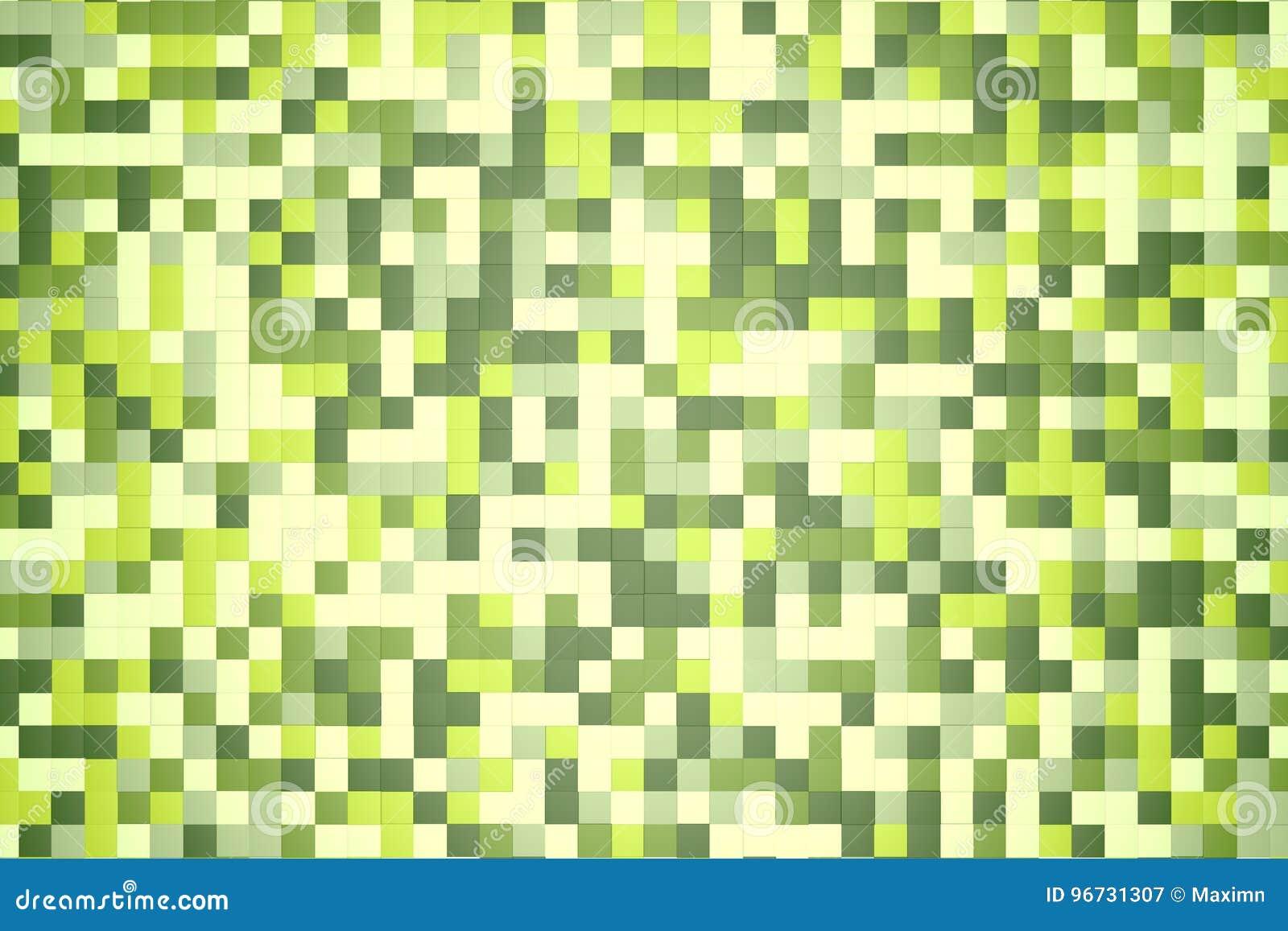 Couleur Vert Emeraude Foncé illustration 3d : fond abstrait de mosaïque, couleur colorée
