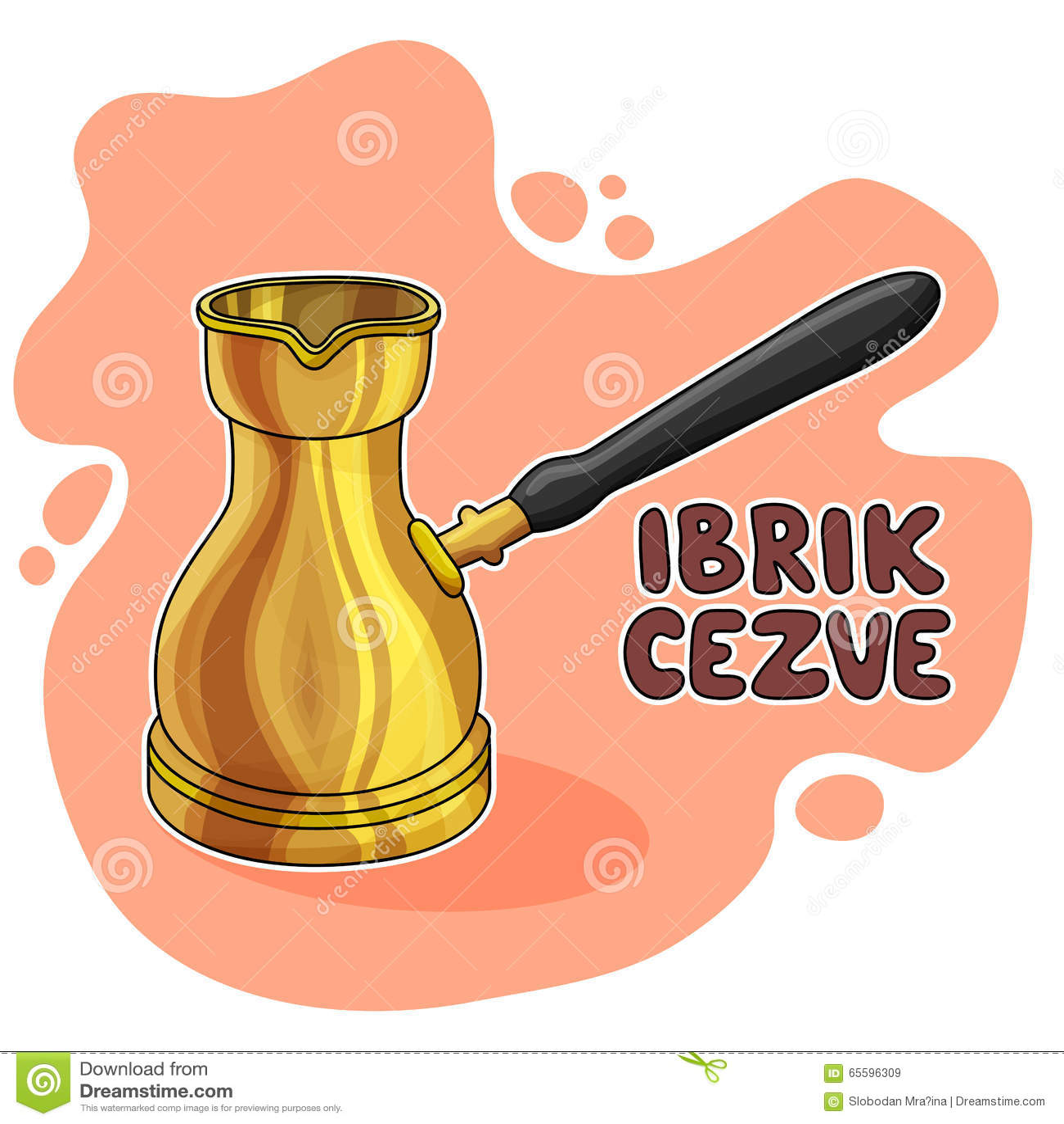Illustration d Ibrik Cezve