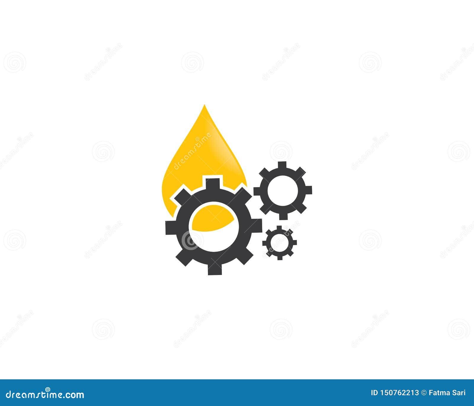 Illustration d icône de logo de pétrole et de vitesse