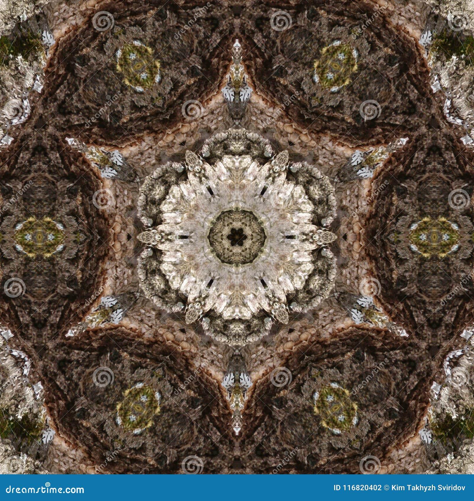 Illustration 3D Image abstraite d une surface en bois d une écorce d un arbre