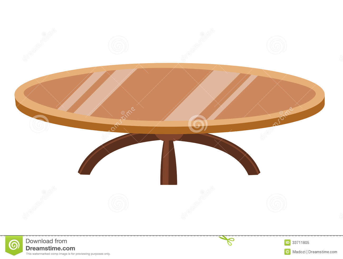 Illustration d 39 isolement en bois de table ronde photo for Bonbon la table ronde