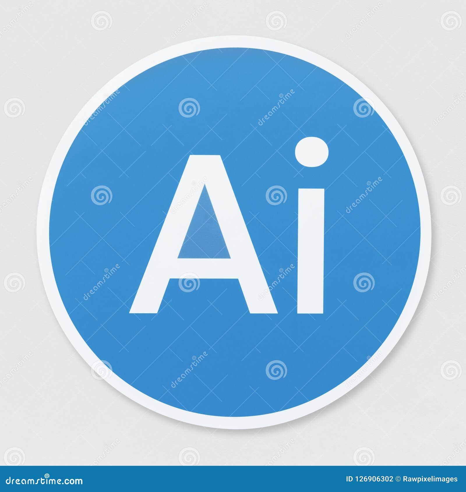 Illustration d isolement d icône d intelligence artificielle