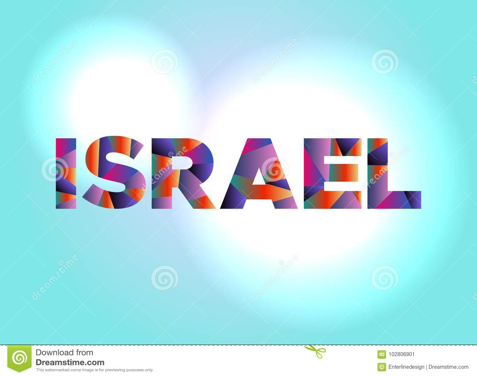 Illustration d Israel Concept Colorful Word Art