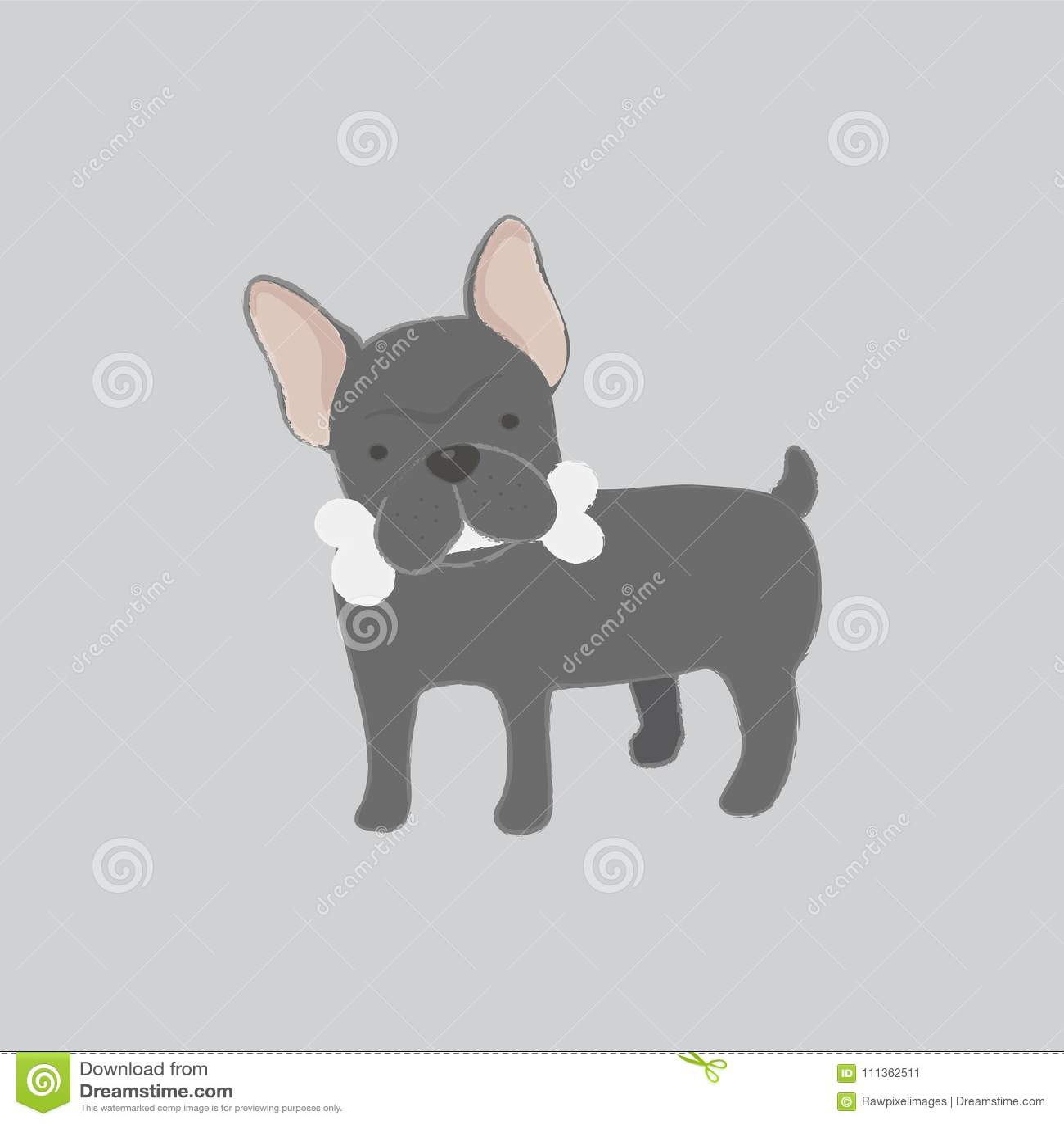 Illustration d os de saisie de chien