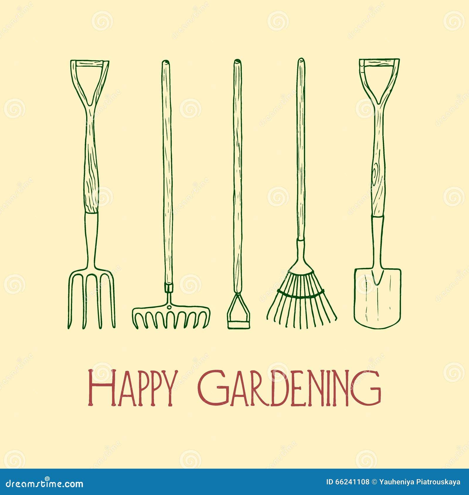 Illustration d 39 outils de jardin illustration de vecteur for Outil de conception jardin