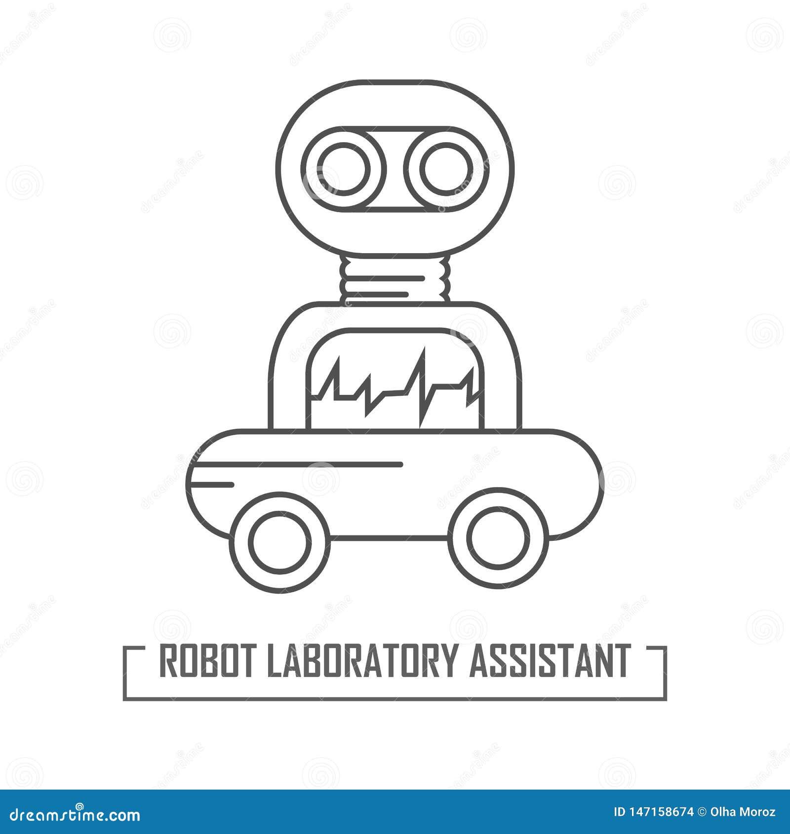Illustration d un assistant de robot dans le laboratoire