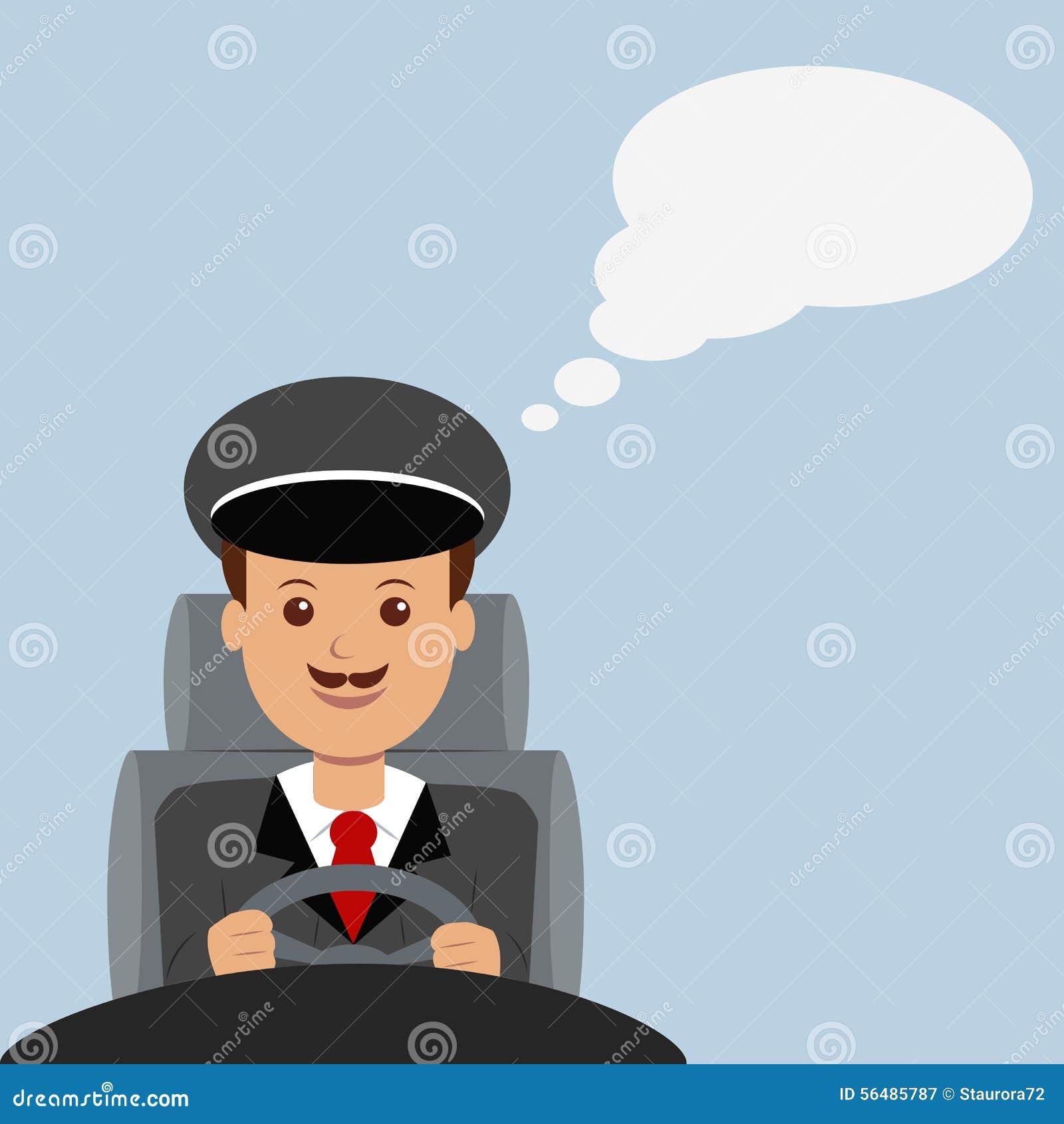 Illustration d un conducteur masculin
