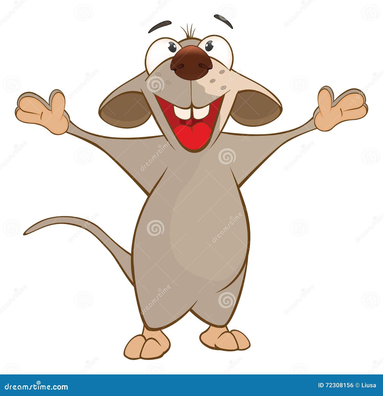 Illustration d 39 un rat mignon le chef heureux de crabots - Dessin d un rat ...