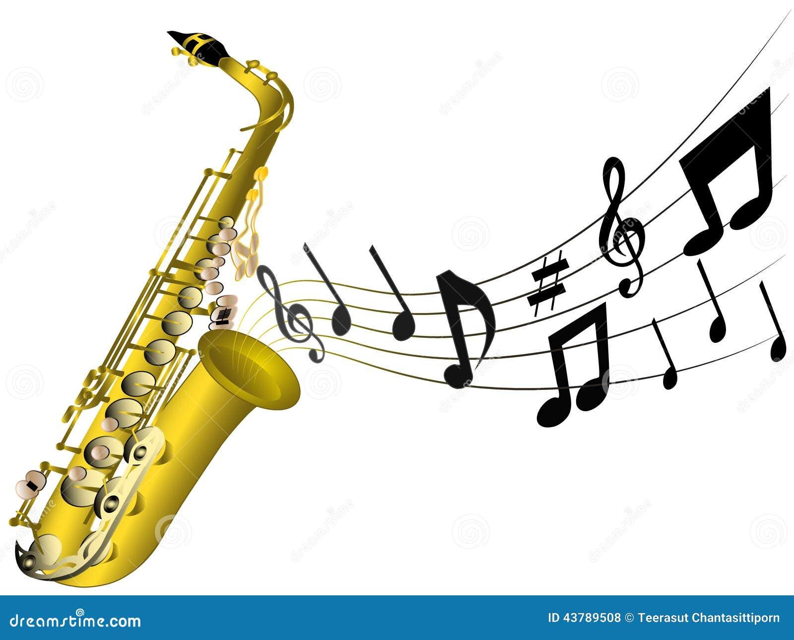 illustration d 39 un saxophone classique illustration de. Black Bedroom Furniture Sets. Home Design Ideas