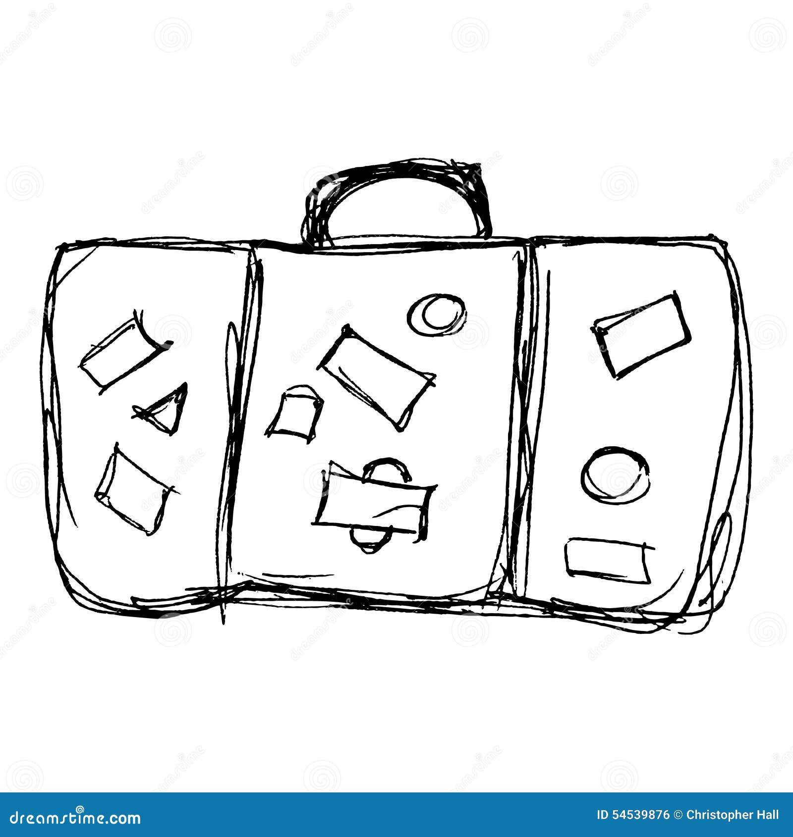 Illustration d 39 une vieille valise illustration de vecteur - Dessin de valise ...