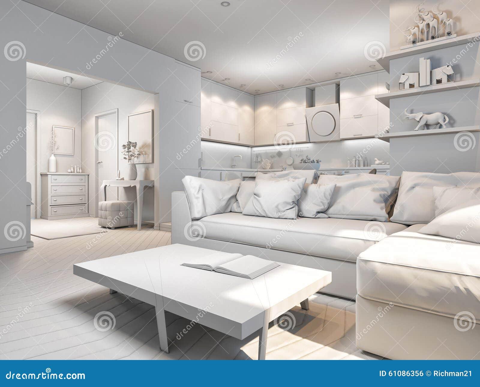3d Fußboden Schlafzimmer ~ Illustration d von kleinen wohnungen ohne beschaffenheiten in der