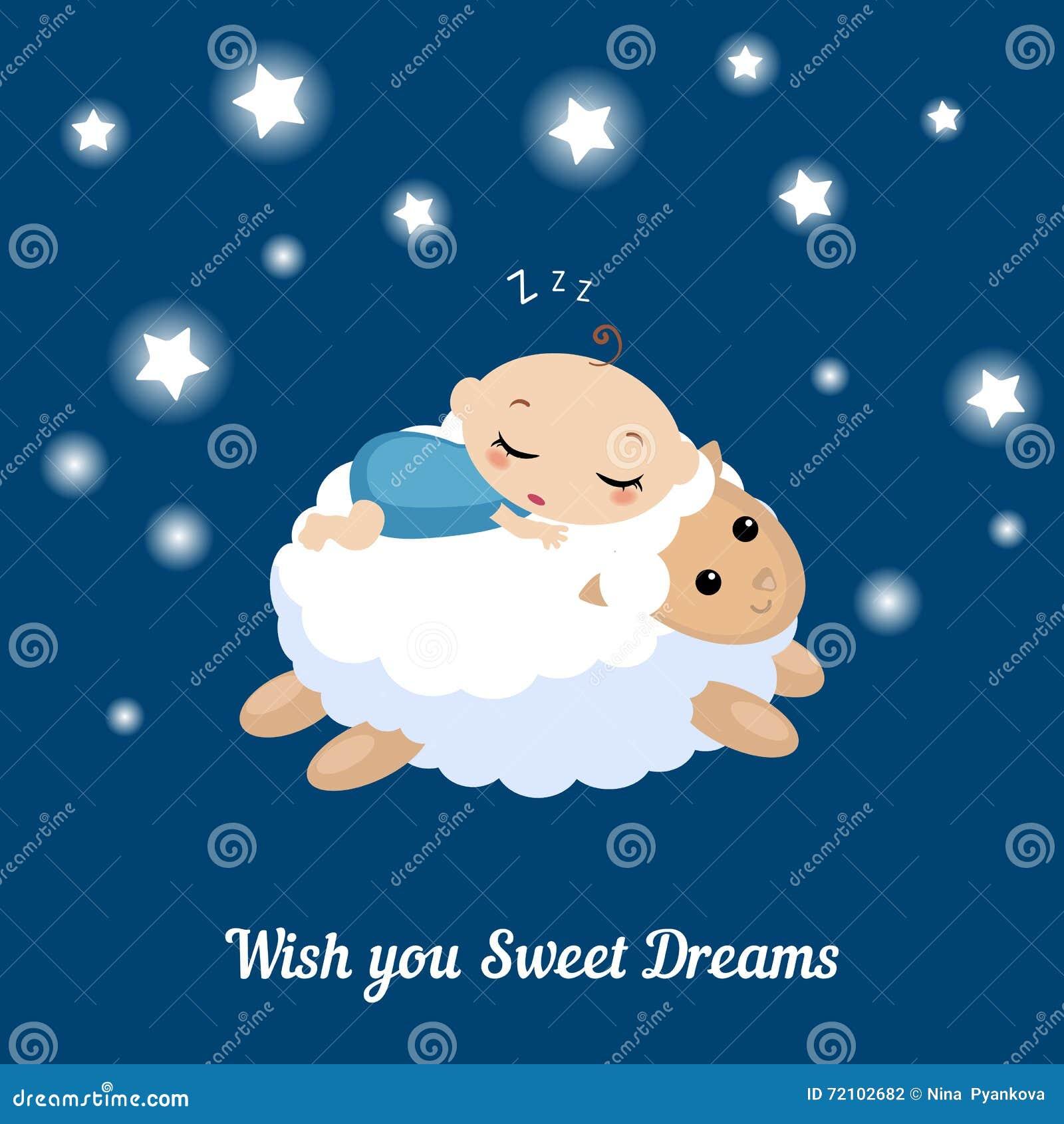 Illustration de bébé de sommeil