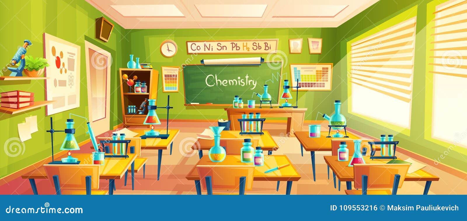 Illustration de bande dessin e de vecteur de salle de classe d 39 cole illustration de vecteur - Dessin classe ...