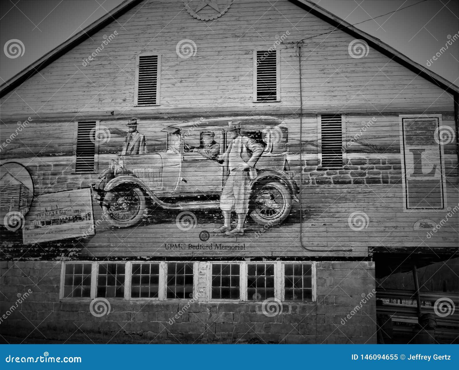 Illustration de bord de la route sur Lincoln Highway en Pennsylvanie occidentale