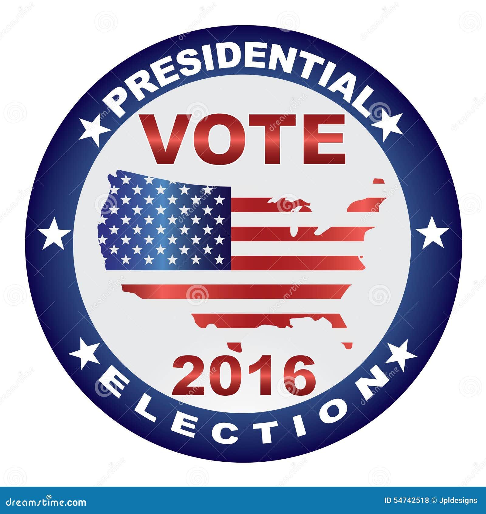Illustration de bouton d 39 lection pr sidentielle des etats unis du vote 2016 illustration de - Election presidentielle etats unis ...