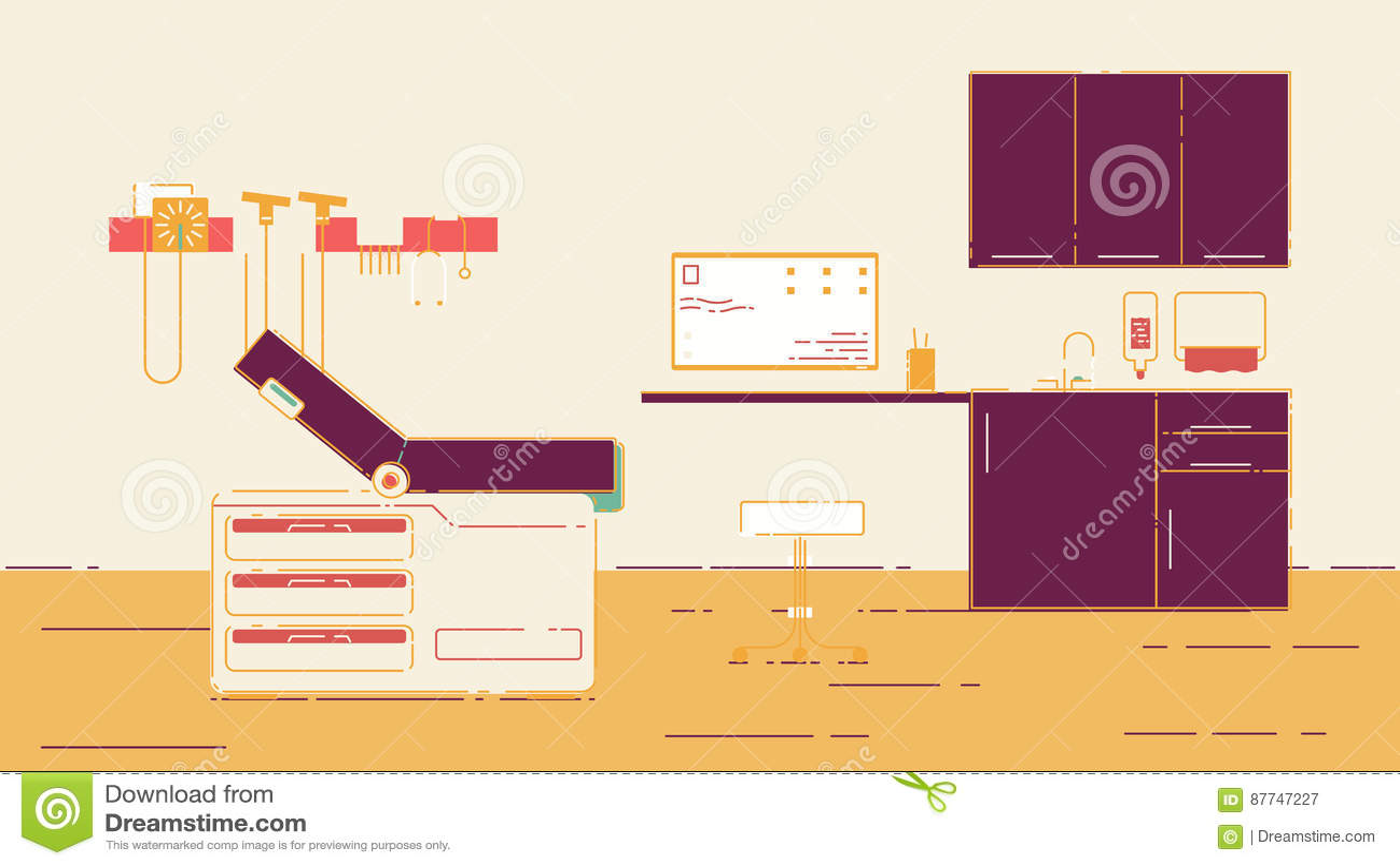 Illustration de bureau du docteur s