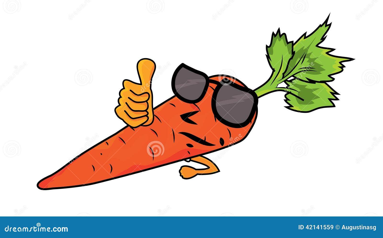 Illustration de caract re de carotte de bande dessin - Dessin de carotte ...
