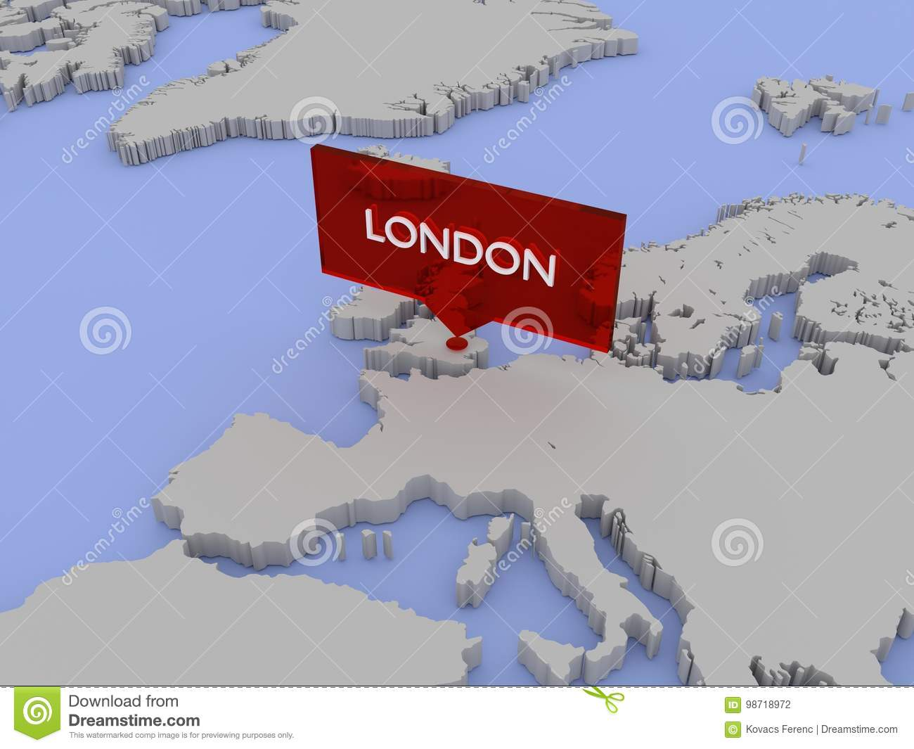 Carte Du Monde Londres.Illustration De Carte Du Monde 3d Londres Angleterre