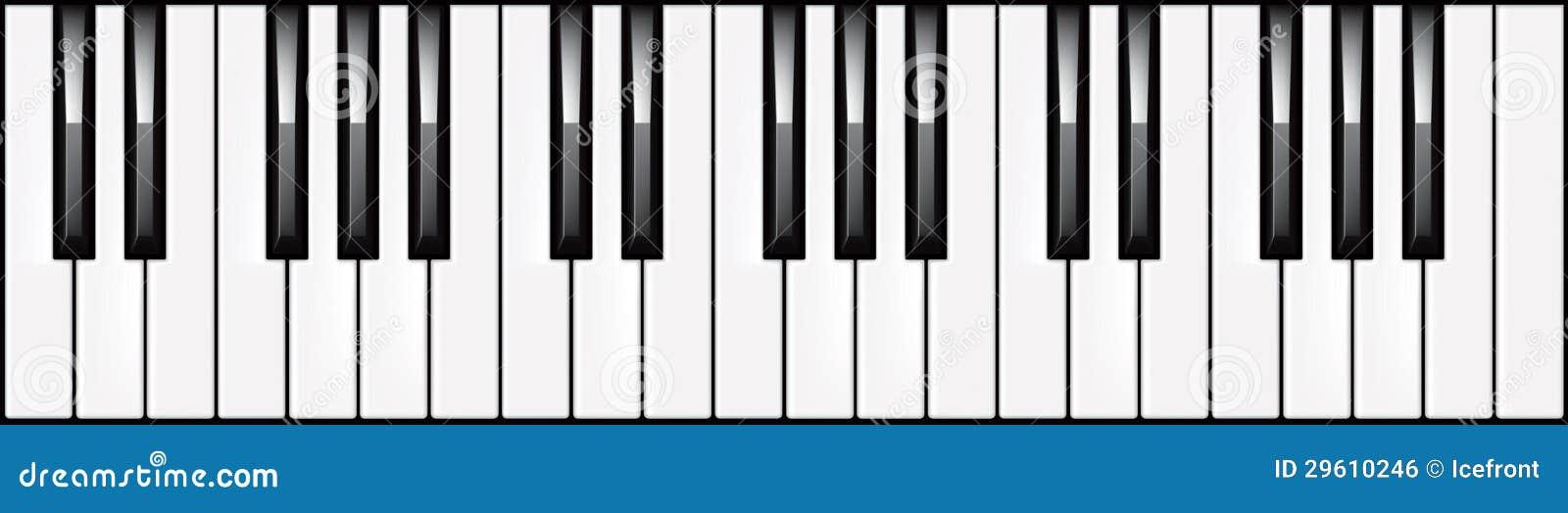 illustration de clavier de piano 3 octave illustration de. Black Bedroom Furniture Sets. Home Design Ideas