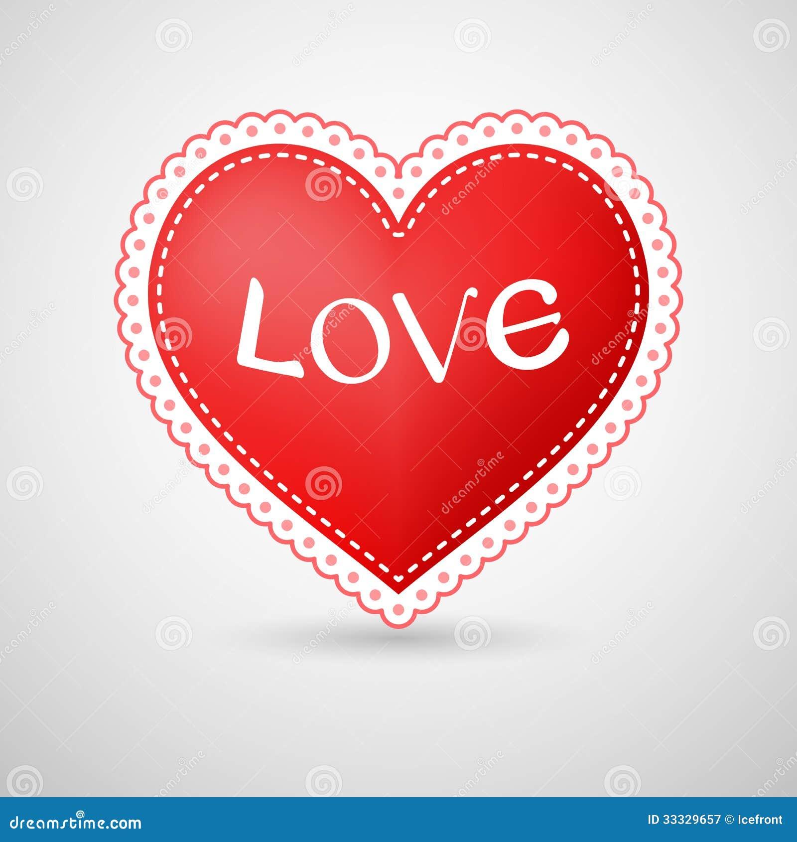 Illustration de coeur avec la fronti re pointill e photographie stock libre de droits image - Coeur avec des photos ...