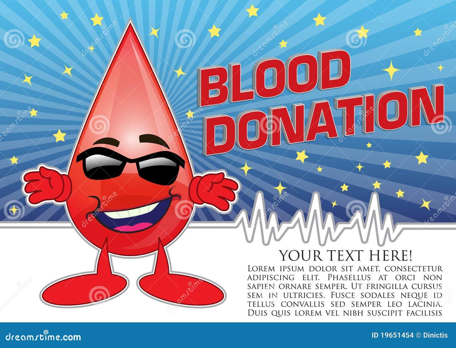 Illustration de concept d affiche de donation de sang