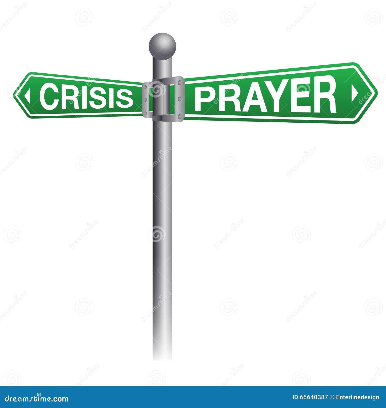 Illustration de concept de crise et de prière