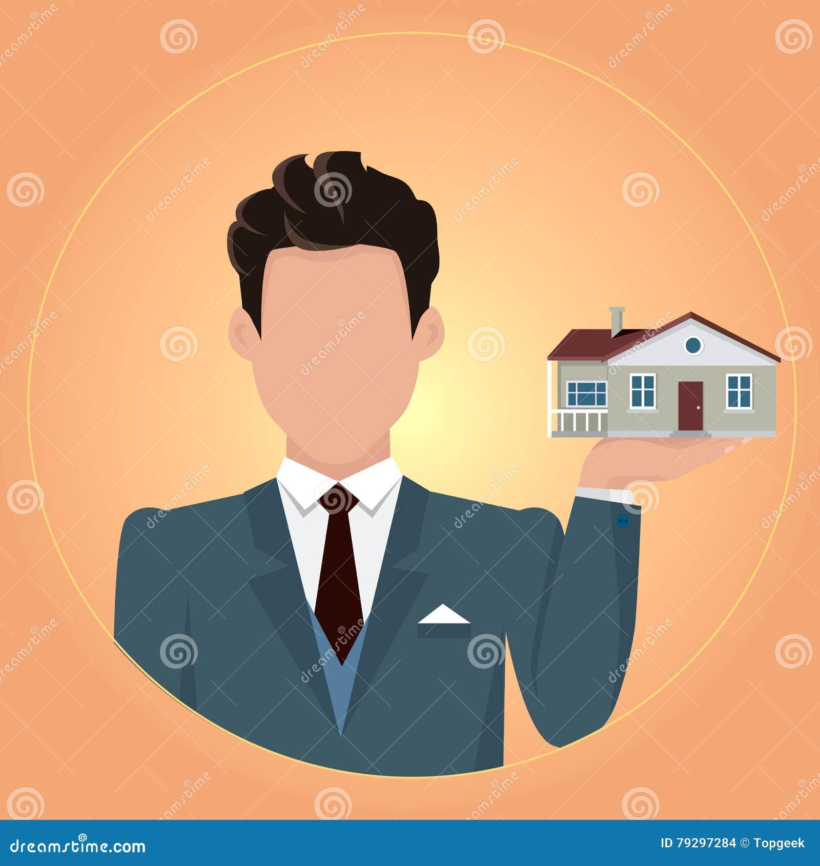 Illustration de concept de Real Estate dans la conception plate