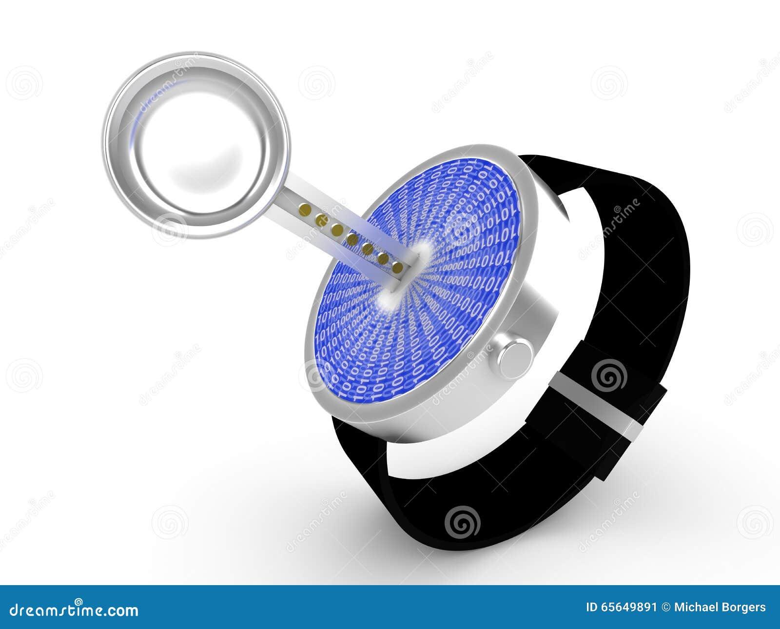 Illustration de concept de sécurité de Smartwatch
