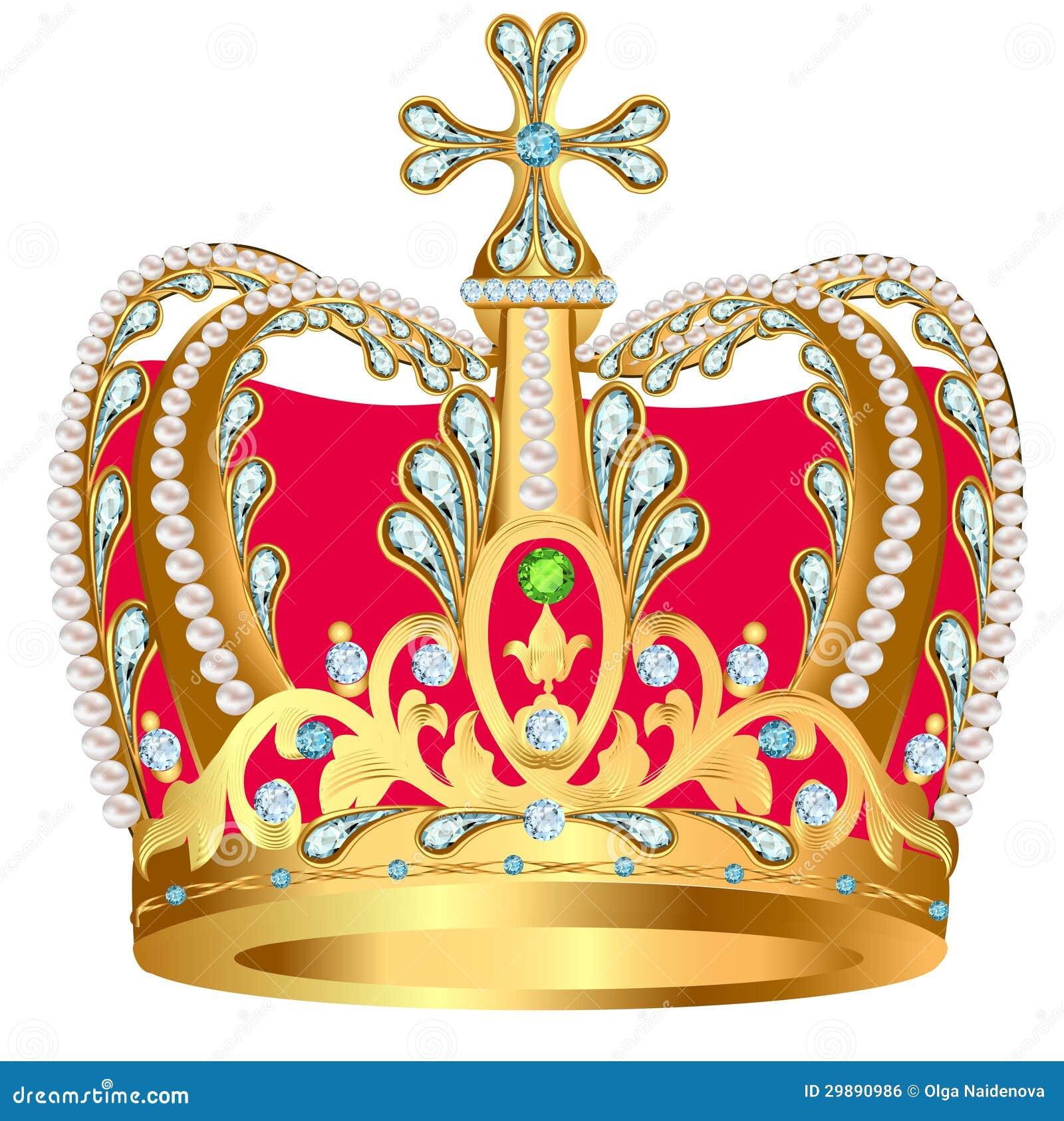 De la couronne royale d 39 or avec les bijoux et l 39 ornement - Clipart couronne ...