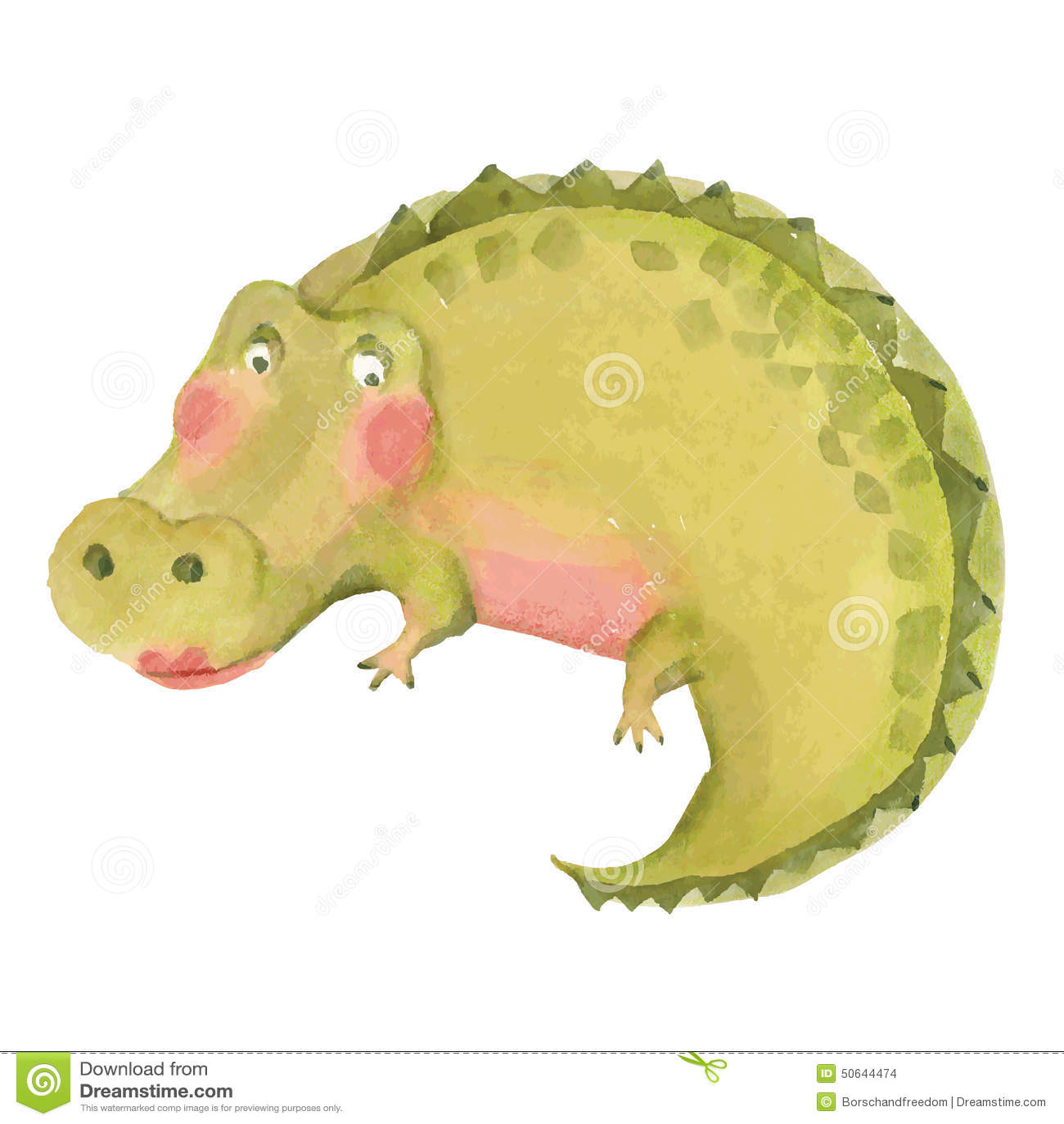 Illustration de crocodile de bande dessinée