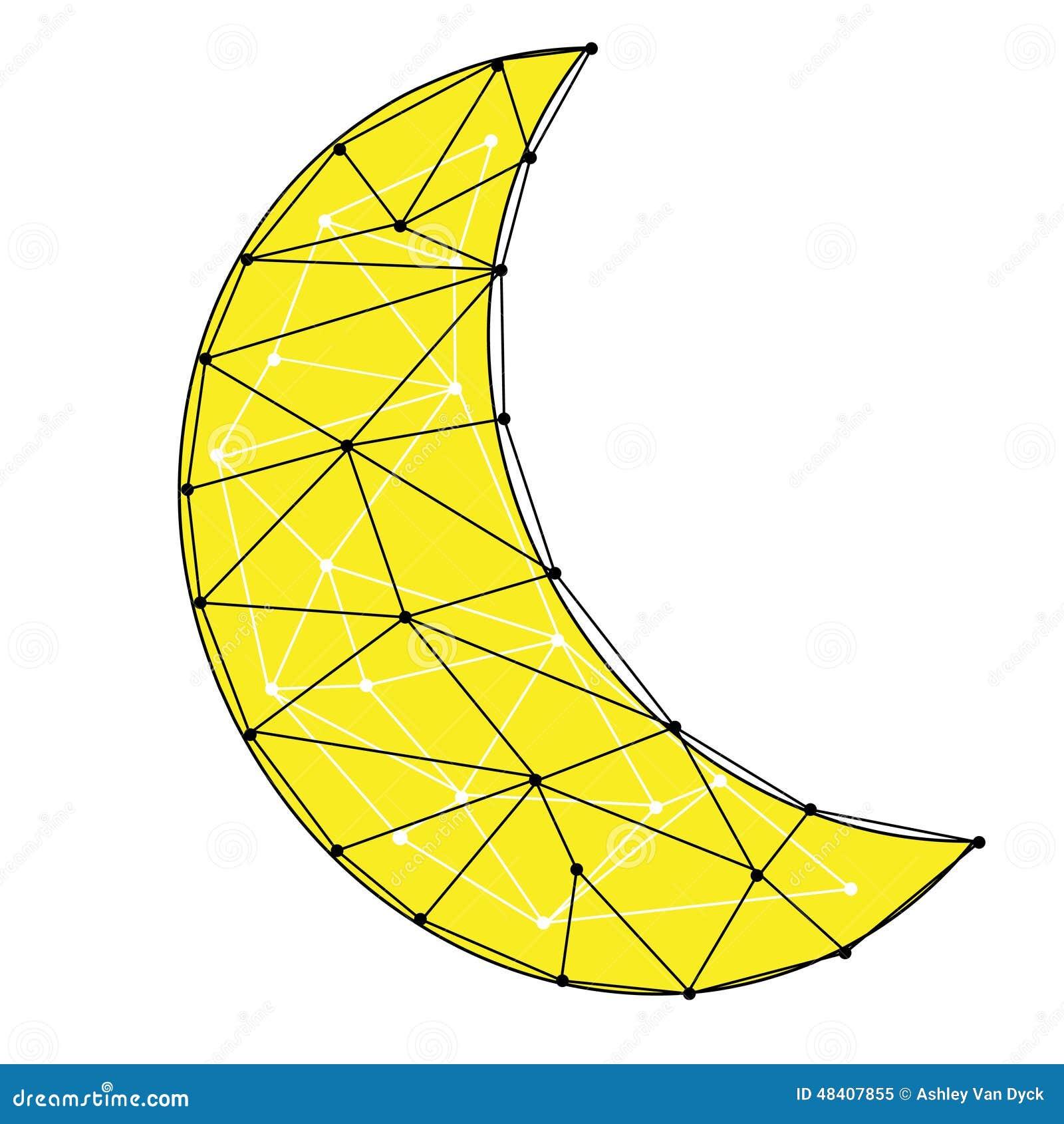 Illustration De Croissant De Lune Illustration de Vecteur ...