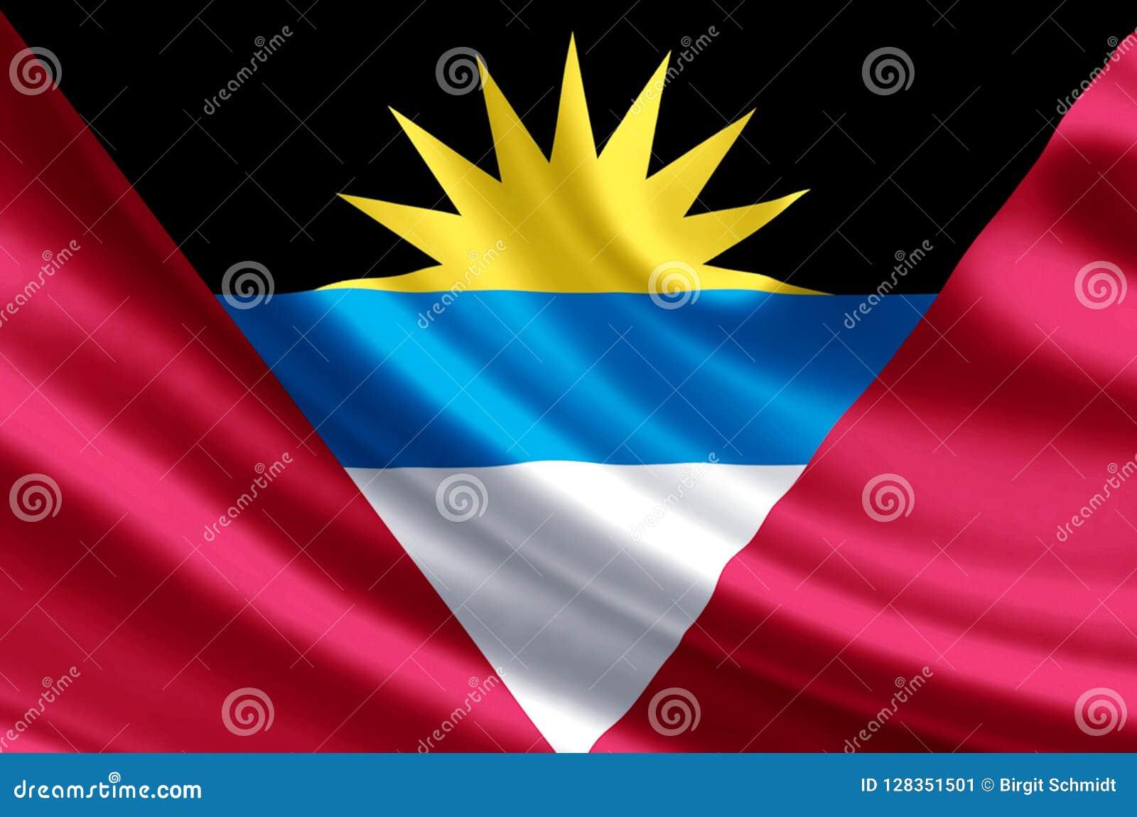 Illustration de drapeau d Antigua et de Barbuda