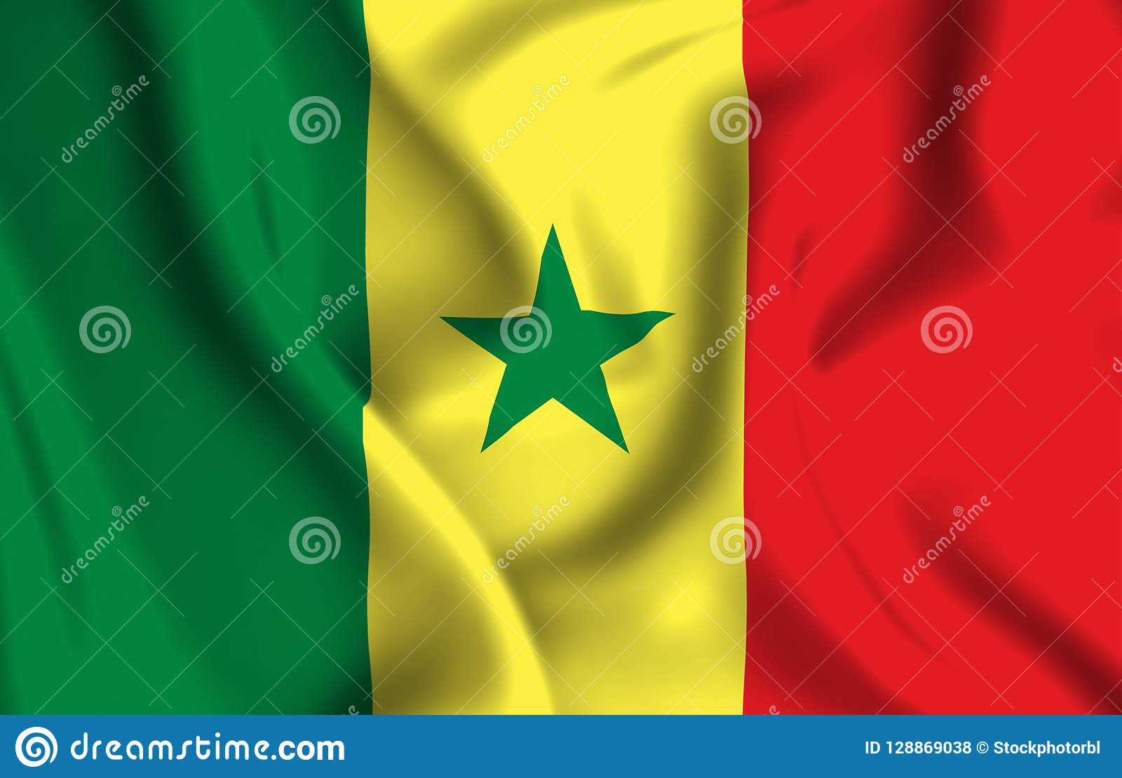 Illustration de drapeau du Sénégal
