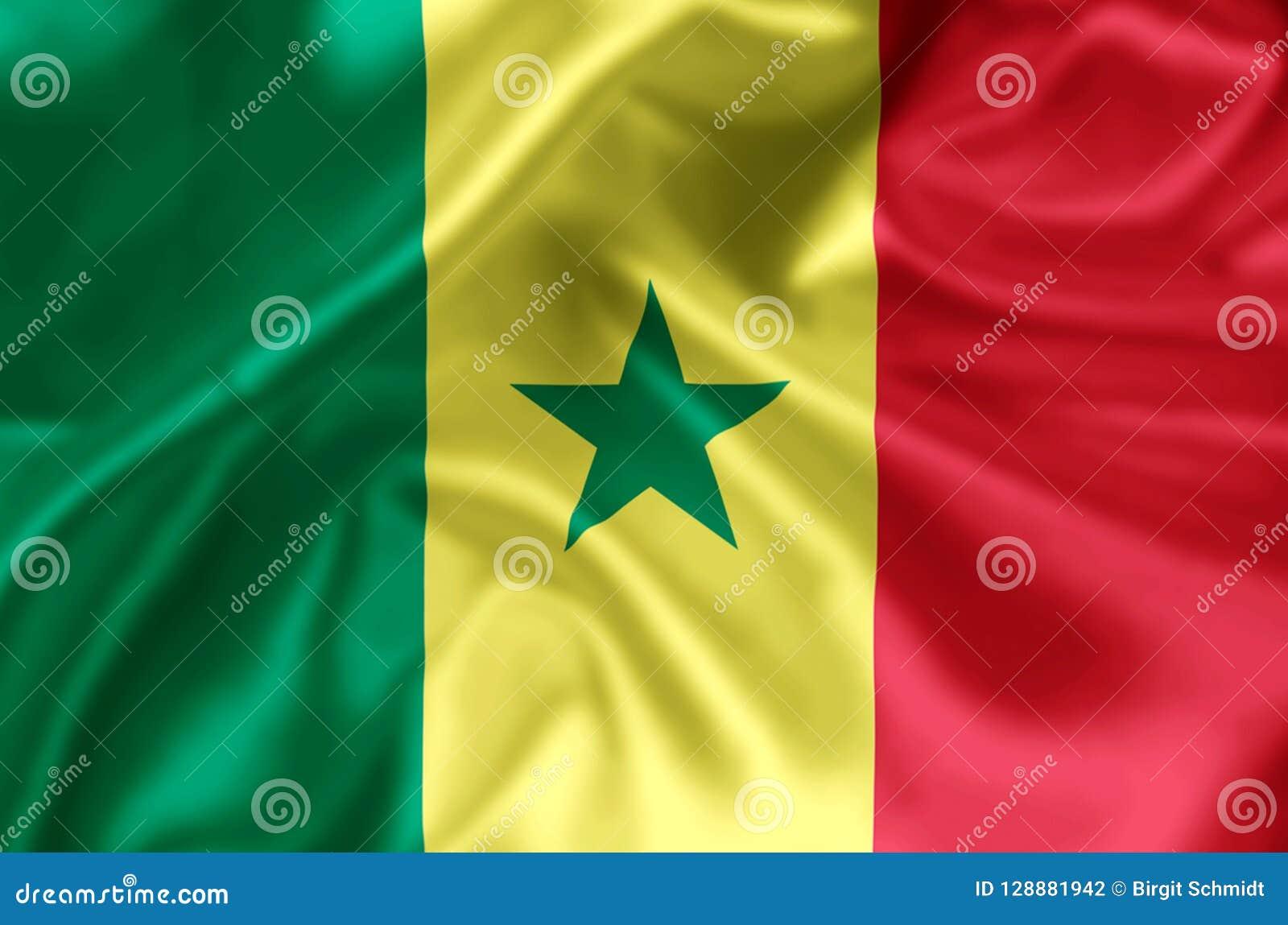 Illustration de drapeau du Sénégal