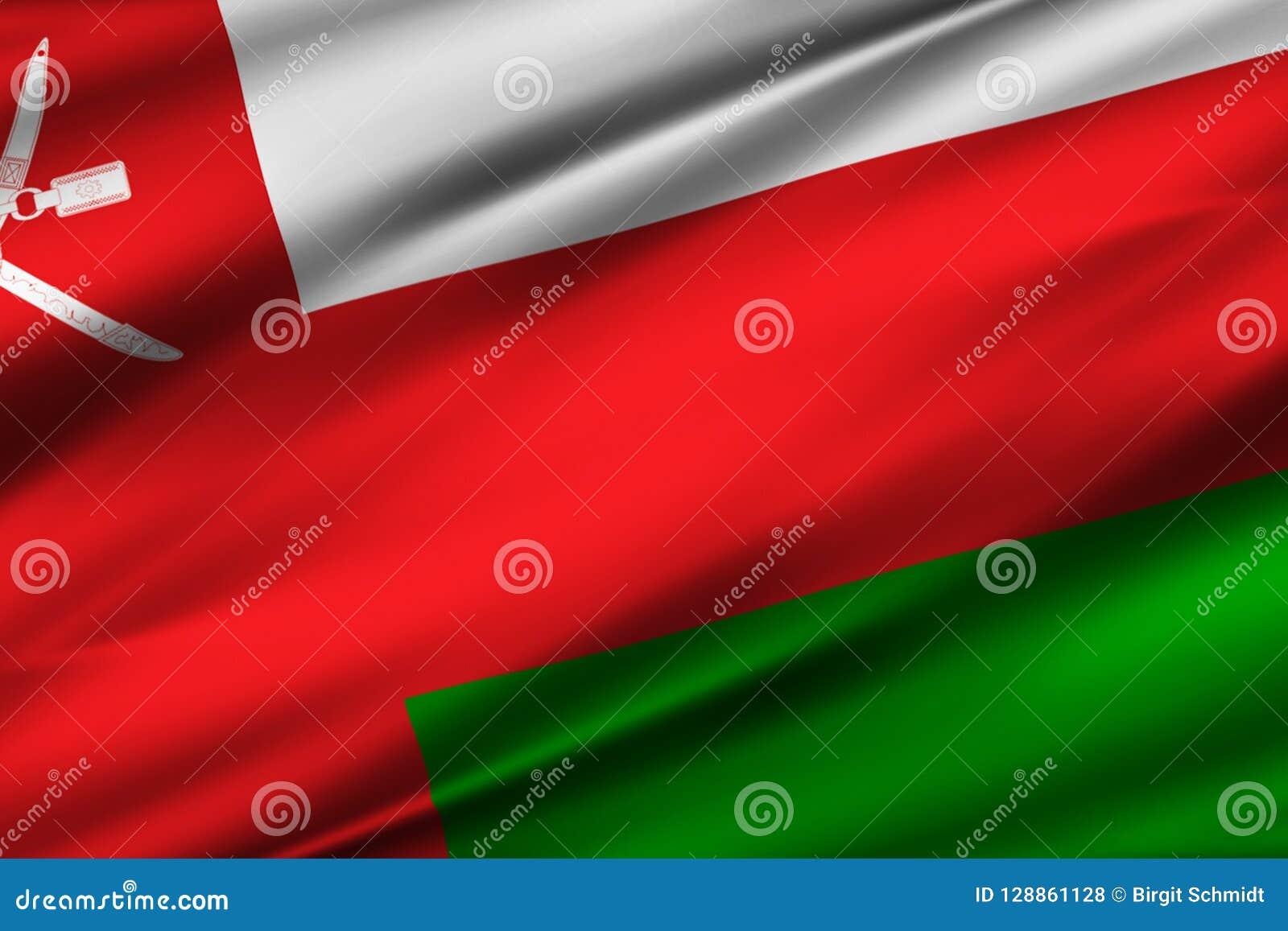 Illustration de drapeau de l Oman