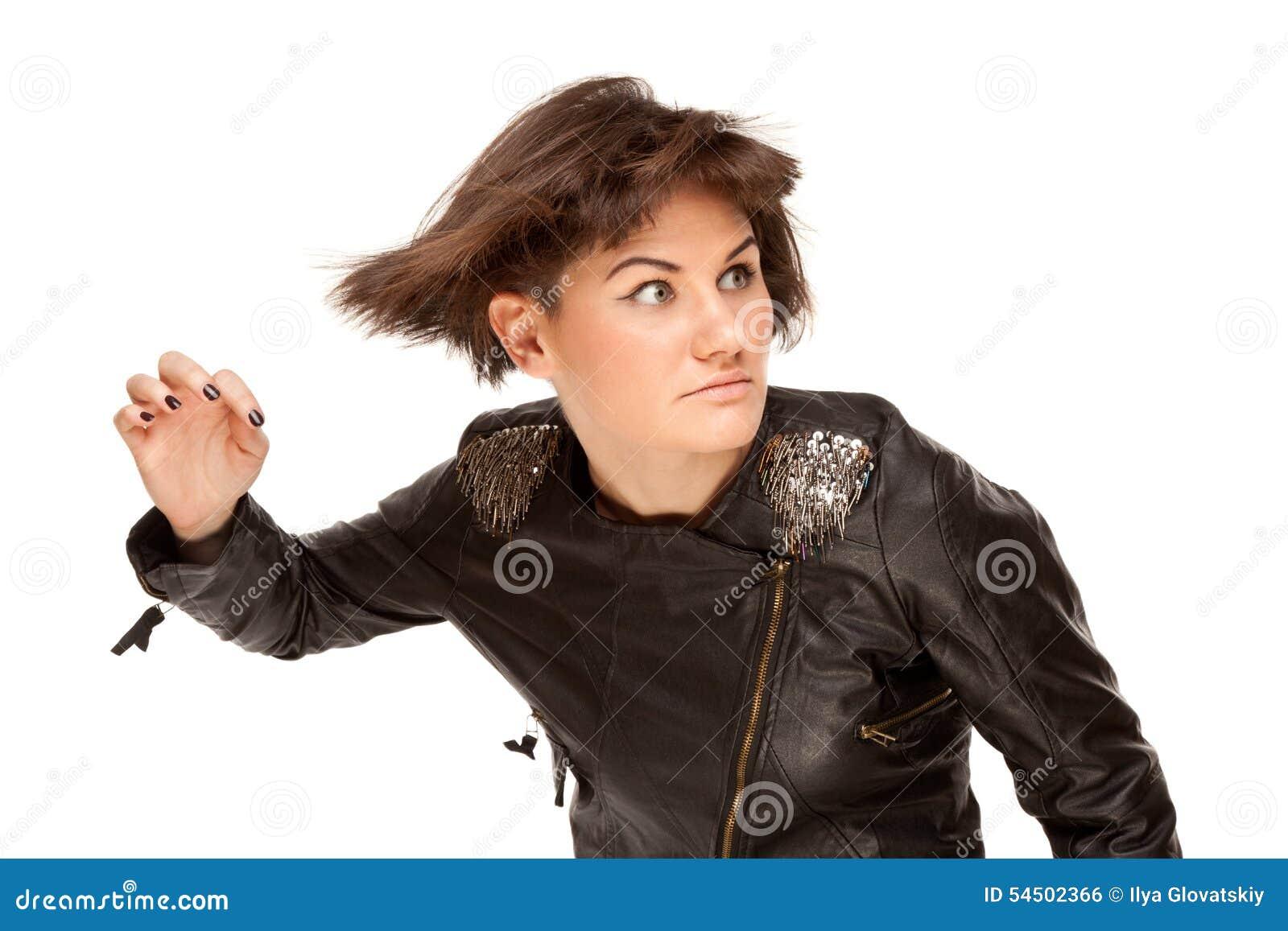 Illustration de femme élégante avec le cheveu oscillant