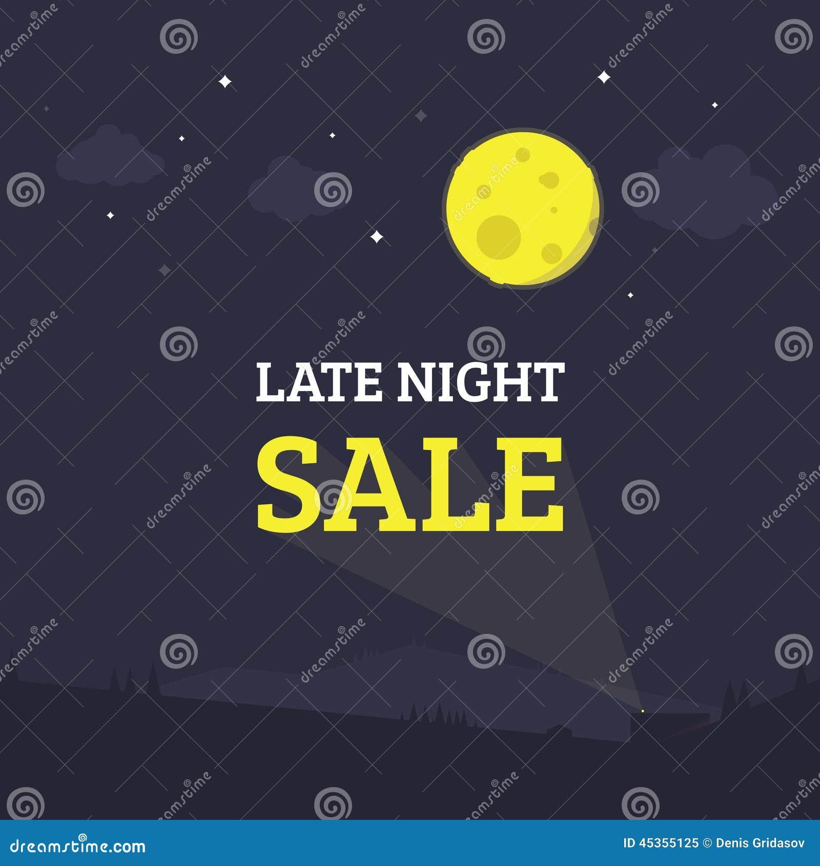 Illustration de fin de nuit de vente