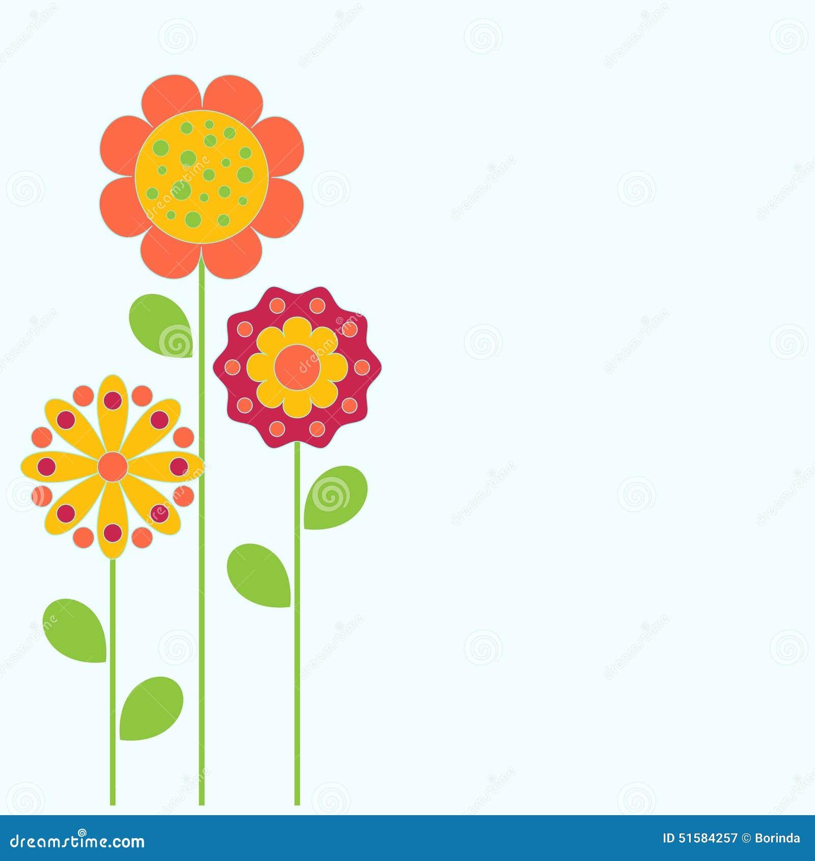 Fleur Illustration illustration de fleurs, carte de fleur illustration stock