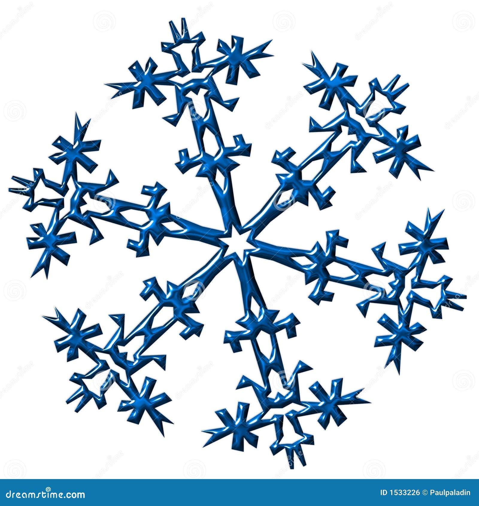 Illustration de flocon de neige image libre de droits image 1533226 - Gabarit flocon de neige a decouper ...