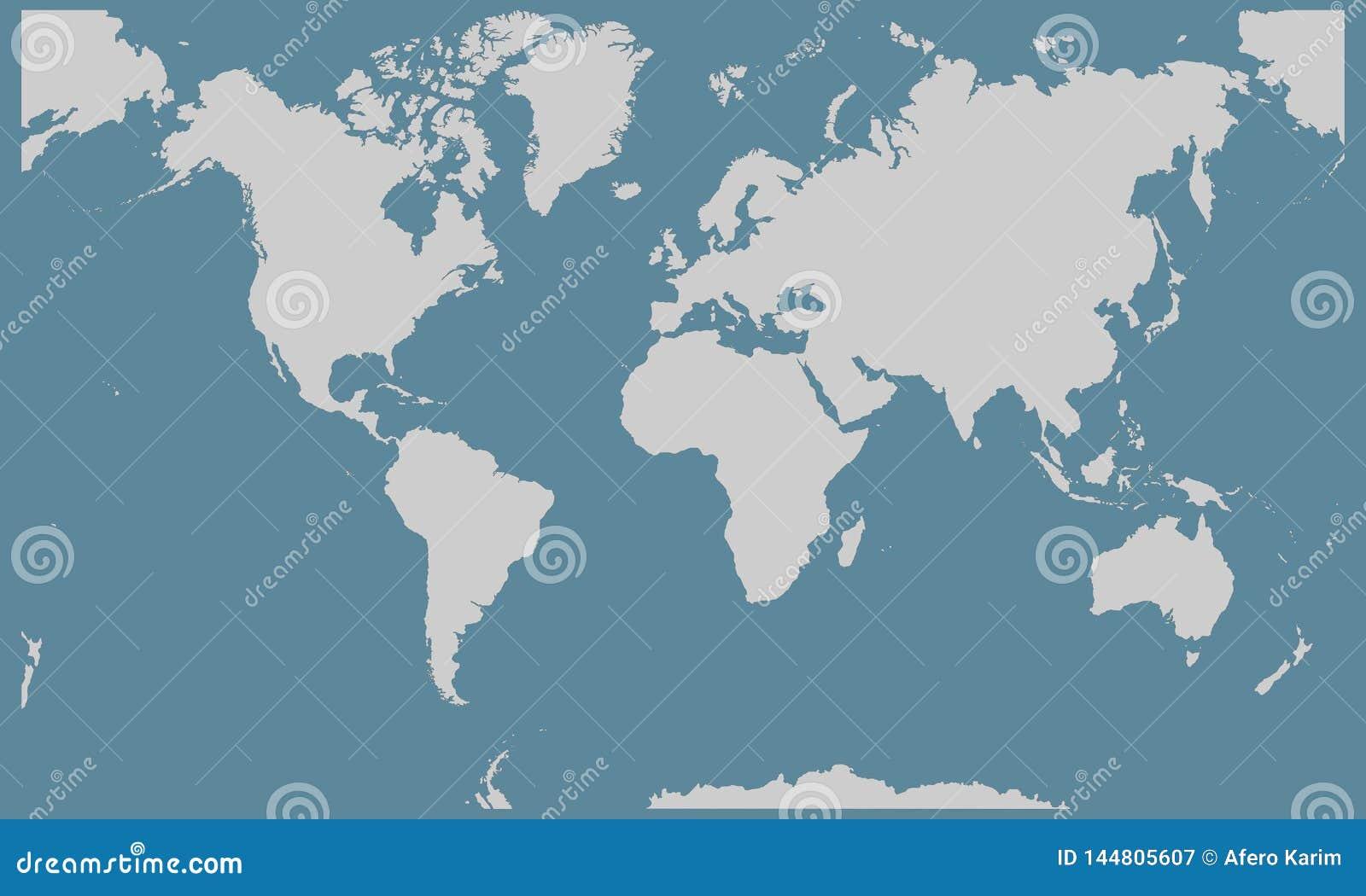 Illustration de fond de carte du monde