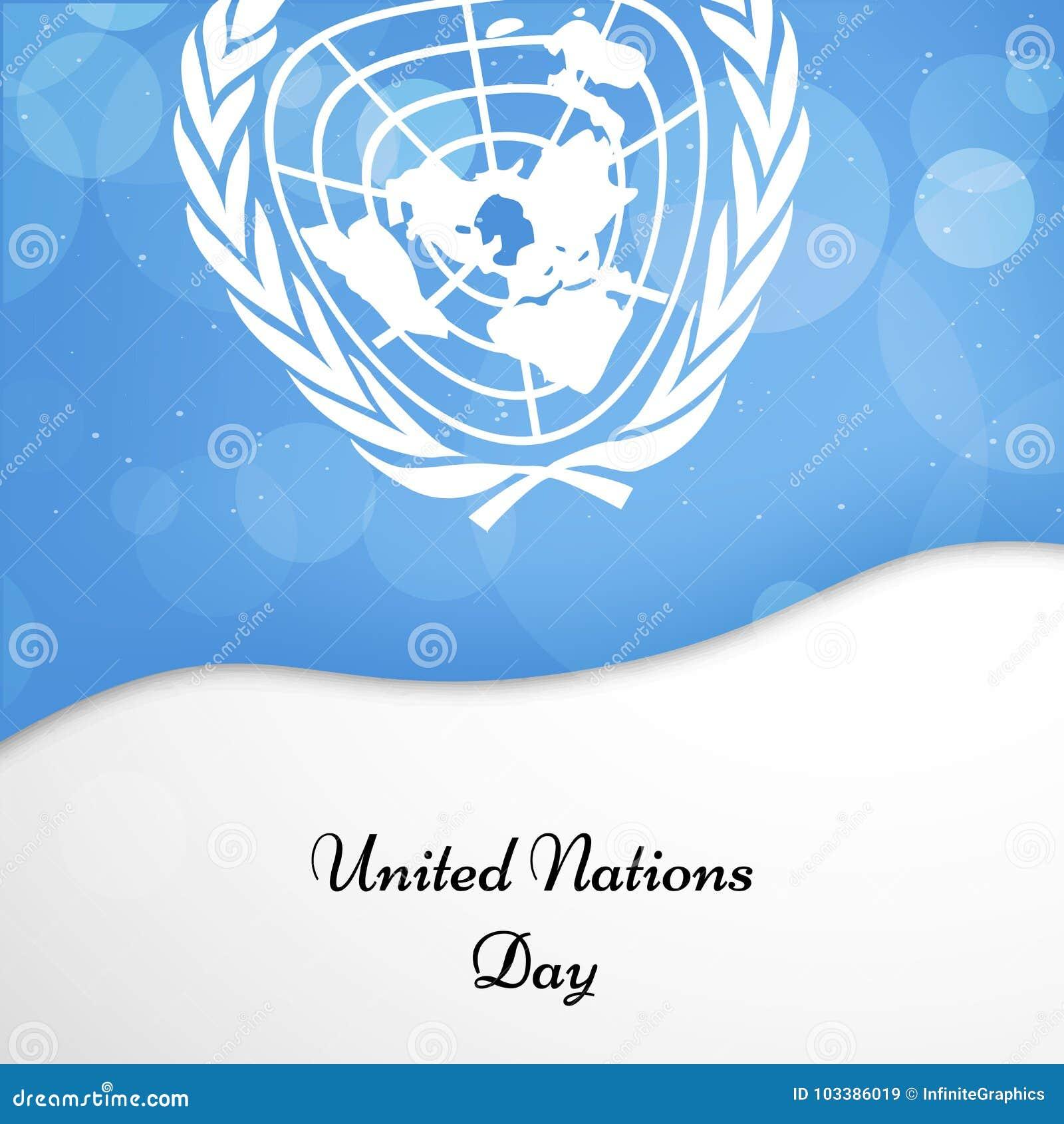 Illustration de fond de jour de Nations Unies