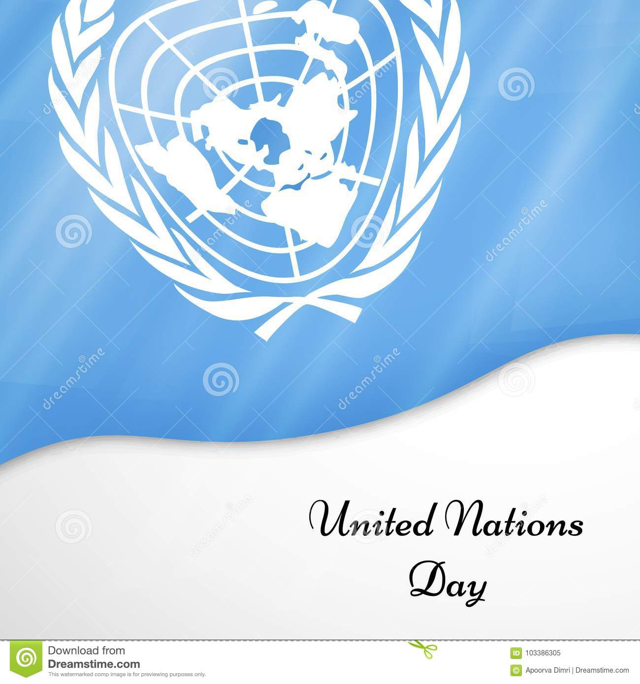 Illustration de fond de jour de Nations Unies
